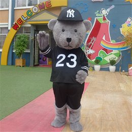 Wholesale Adult Bear Costumes - Hip Hop Teddy Bear Mascot Costume Fancy Birthday Party Dress Halloween Carnivals Costumes With High Quality For Adult