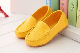 Wholesale Rubber Sole Kids Shoes - High-quality rubber Soft Sole Casual Flats Boat Shoes Hot Sale Children Shoes Kids PU Leather Sneakers