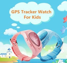 Wholesale Gps Tracker Button - Factory Price Original A6 GPS Tracker Watch for Kids Children Smart Watch with SOS button GSM phone support Android&IOS Anti Lost