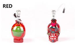 2019 ziehrohr Neu Totenkopf farbige Zeichnung Glas Wasserpfeife Glas Bong Fab Egg Bongs Original Faberge Egg Wasserpfeife Recycler Bongs Ölplattform tupft Glas rabatt ziehrohr
