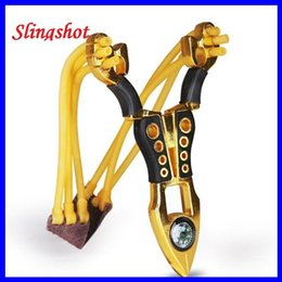 Wholesale Good Slingshots - Gold Scissors Slingshot Style New Alloy Material Powerful Shooting Nostalgia Hunting Fishing Gear Quality Goods out232