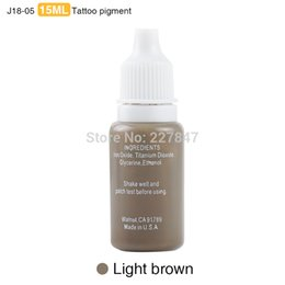 Wholesale Permanent Make Up Pigments - Wholesale- CHUSE J18 3pcs Colorful permanent Makeup tattoo ink pigment 15ml for eyebrow make up 19 Colors to Choose-Light brown tattooing