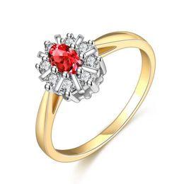 a0b8a8338814 Moda de Alta Calidad Azul Corazón Rojo Circón Base de Cobre Anillos de Oro  Blanco Real Regalo de La Joyería Hermosa Precio Bajo RIG73