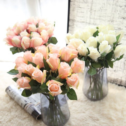 Wholesale Cheap Artificial Rose Pink Flowers - artificial wedding bouquets cheap silk flowers artificial wedding bouquets wedding arch decorations rose flower decoration mariage