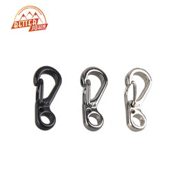 Wholesale Mini Tactical Backpack - Wholesale-Mini SF Spring Claps Climbing Carabiners EDC Keychain Camping Bottle Hooks Backpack Climbing Claps Tactical Survival Gear