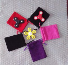 Wholesale Buggy Pouch - 2017 New Velvet Fidget Spinner Drawstrings Buggy Bag Packaging Bags Jewelry Pouches Necklace Bracelet Earring Gift Bags