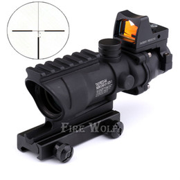 Wholesale Trijicon Acog Hunting - 2016 NEW Trijicon ACOG 4X32 High-Quality Scope telescope BK for hunting gun scope Free Shipping Optical instruments