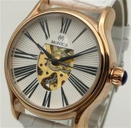 гуанчжоу часы Скидка Новые горячие автоматические механические часы женские кожаные модные выдолбленные часы Guangzhou Muonic Марка римские цифровые часы из розового золота