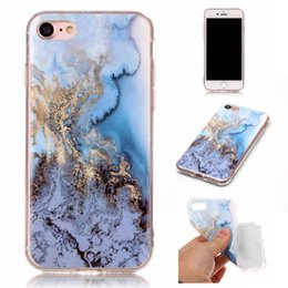 Wholesale Iphone Cases Stones - Marble Stone Fashion skin case Soft TPU IMD Gel back cover For Iphone 7 7Plus 6 6S Plus 5 5S SE 5C 4 4S Touch5 Touch 5 6 Touch6 1PCS 5PCS