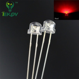 Wholesale 5mm Led Bulb White - Wholesale- 100pcs 5mm Straw Hat Led Red Urtal Bright Wide Angle Lamp Light Bulb 5MM Led Emitting Diodes Active Components