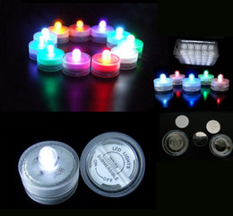 Wholesale Led Underwater Lights Battery - Underwater Lights LED Candle Lights Submersible Tea Light Waterproof Candle Underwater Tea Light Sub Lights Battery Waterproof Night Light