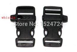 """Wholesale Survival Bracelet Whistle Clasp - Wholesale-20pcs lot 3 4"""" Whistle plastic buckles clasps side release shackle for outdoor emergent survival tools paracord bracelet"""