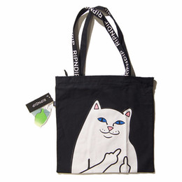 Wholesale Handbag Shoulder Shopper - Ripndip Tote Bag Upgraded Original Brand Summer Beach Bag Canvas Totes Casual Shopper Handbag Shoulder Shopping Bag