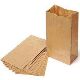 Wholesale Paper Recyclable Package Bag - Brown Kraft Paper Gift Bags Wedding Candy Packaging Recyclable Jewelry Food Bread Shopping Party Bags For Boutique