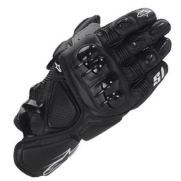 Wholesale Finger Protection - Motorcycle Leather Gloves GP S1 Motocross Moto Road Racing glove Motorbike Outdoor riding Protection Guantes