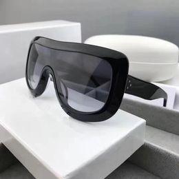 Wholesale Men Sunglasses Leopard - 41377 Luxury Women Brand Designer Sunglasses Audrey Goggle Wrap Designer UV protection Unisex Model Big Frame Leopard Double Color Frame