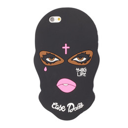 Wholesale Cover Girl Eye - Arabic Big Eyes Masked Teared Girl Jesus Christian Cross Case for iPhone 6s 6 plus 7 7plus 5S SE 8 8plus mask cover