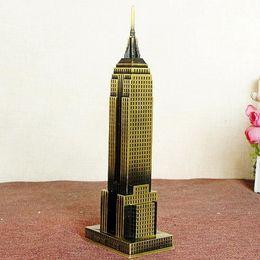 Wholesale Usa Models - 22cm Size Metal Craft USA New York Famous Landmark Empire Building Model