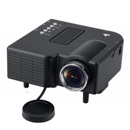 Wholesale Mobile Theater - UC28+ Projectors Mini LED Portable Theater Video Projector Mobile Phone PC Laptop Home Audio Video with Retail Package