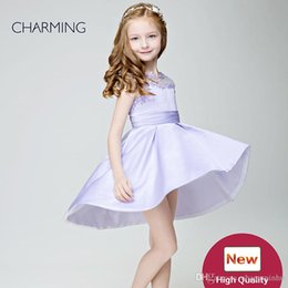 Wholesale Small Pageant Dresses - Small girl dress Dress design for child Lavender high quality Pageant dresses for girls China suppliers