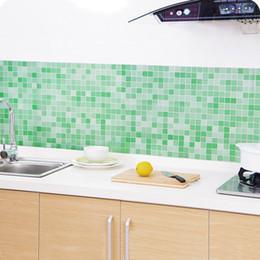 Wholesale Kitchen Waterproof Wall Stickers - iy home decor 45x200cm Waterproof Mosaic Aluminum Foil Self-adhensive Anti Oil Kitchen Wallpaper Heat Resistance Wall Sticker DIY Home De...
