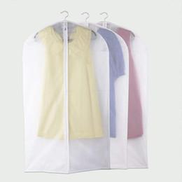 Wholesale Suit Coat Dust Cover - Wholesale- OUTAD 1Pc Zipper Suit Cover Protector Storage Bag Case for Clothes Organizador Garment Wardrobe Suit Coat Dust Cover Protector