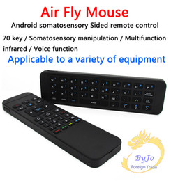 Wholesale Fly Mp3 - MP3 Air Fly Mouse MX3 2.4GHz Wireless Keyboard Remote Control Somatosensory IR Learning 6 Axis without Mic for Android TV Box