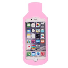 Wholesale Mineral Bottles Wholesale - Cartoon Case For iPhone 6S Plus case Silicone Sweet 3D mineral water Bottle Love Ice Cream Phone Case For iphone 6 plus 5s