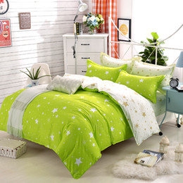 Wholesale Twin Size Green Comforters - Promotion New 4Pcs Soft Full King Queen Size Bedding Set Comforter Cotton Home Bedding Set Print Sets Duvet Cover Sheet Pillowcase