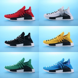 Wholesale Fashion Men Sport Shoes - 2017 Brazil's Olympic NMD Runner HumanRace Boost Pharrell's Williams Fashion Running Shoes Top Human Race Pharrell x Sports Sneakers