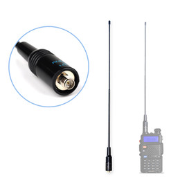 Wholesale Dual Band Antenna Sma Female - Wholesale- NAGOYA NA-771 Dual Band Walkie Talkie Baofeng Antenna VHF UHF SMA-Female for Handheld Radio Baofeng UV-5R UV-82 BF-888S