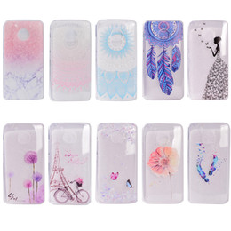Wholesale Moto Girl - Transparent TPU Cover For Motorola MOTO G5 Case Colour decoration Tower bike Butterfly Girl Design Phone Case