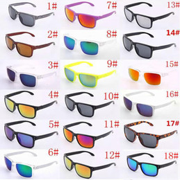 Wholesale Summer Shades - Hot Selling 10pcs holbrook SunGlasses For Men Summer Shade Protection Sport Sunglasses Men Sun glasses 18Colors.