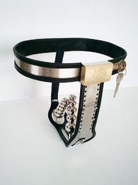 Wholesale Model T Chastity Belt - Stainless Steel Female Chastity Device Adjustable Model-T Chastity Belt Restraint Devices SM Bondage with Anal Vagina Plug Chastity Pants