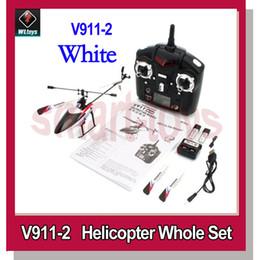 Wholesale V911 Rc Helicopter Upgrades - New v911 Upgrade Wltoys V911-Pro V911-V2 4Channel 2.4GHz RC Helicopter White
