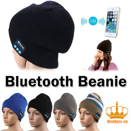 Wholesale Chinese Adults Girls - Bluetooth Beanie Knitted Winter Hat headset Hands-free Music Mp3 Speaker Mic Cap Magic Sport Hats for Boy & Girl & Adults