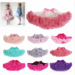 Wholesale Baby Princess Costume Pink - 24 colors baby girl kids Christmas pettiskirt tutu short skirts tulle fluffy skirt satin ribbon bow princess lace pink costumes