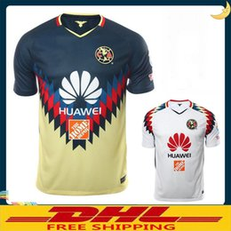Wholesale Wholesale Rugby - DHL Free shipping 2017 2018 LIGA MX Club America soccer Jerseys home away 17 18 Club America soccer Jerseys Size can be mixed batch