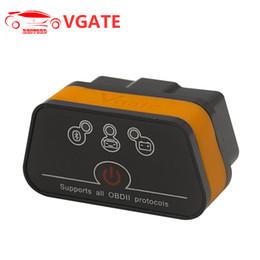 herramienta de escáner elm327 bluetooth obd2 Rebajas Al por mayor-VGATE ELM327 V2.1 ICAR2 Bluetooth 3.0 OBD2 Scan Tool Escáner de Diagnóstico Auto Soporte Android / Windows