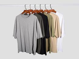 Camisetas de moda coreana online-hipster hombre streetwear moda coreana hombres ropa urbana fitness camisetas kanye justin bieber hiphop llanura camiseta de gran tamaño