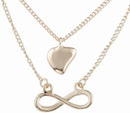 Wholesale Cards For Words - Hot sale Dogeared Choker Necklaces With card Gold double 8 word crown Pendant Necklace For women Fashion Jewelry Valentine's Day Gift 333