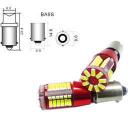 Wholesale crystal tail lights - 2X T4W BA9S 57smd 3014 led car Canbus Error FreeLicense Plate Reading Tail map Car Light Source parking White 12V