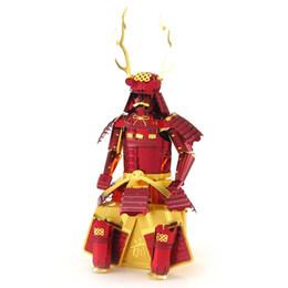 Wholesale Samurai Metal - Child Metallic Nano Steel 3D DIY Jigsaw Puzzle Japanese Samurai Armor Series Model Toy Excellent Kids Educational Toy Gift Free Shipping