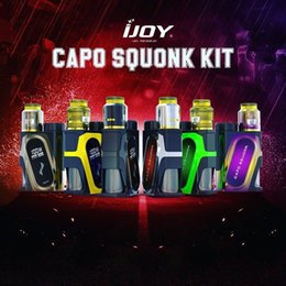 Wholesale Plastic Capo - Original iJoy CAPO Squonk 20700 Battery Mod with Combo RDA Triangle Kit compatible with 21700 20700 18650 battery