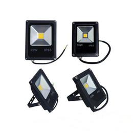 Wholesale black light spotlight - Ultrathin LED Flood Light 10W 20W 30W 50W Black AC85-265V Waterproof IP65 Floodlight Spotlight Outdoor Lighting Landscape LED RGB Floodlight