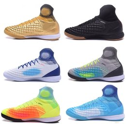 Wholesale Indoor Training - discount MercurialX proximo II IC Training Soccer Shoes,11 generation Huailong MD,waterproofing flat football shoes,favorite Football boots