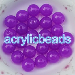 Wholesale Cheap Plastic Hearts - Cheap 8MM Chunky Jelly Round Plastic Gumball Beads Loose Spacer Acrylic Bubblegum Balls for Jewelry Making 100pcs