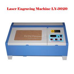 Wholesale Co2 Laser Engraving Cutting Machine - BRAND NEW 220V 110V LY 3020 40W CO2 Digital laser engraving cutting machine engraver with digital function