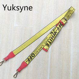 Wholesale Easy Weave - New Handbags Strap Off White Woven Design National Gold Buckle Canvas Bag Straps New Trendy Easy Holding Shoulder Straps