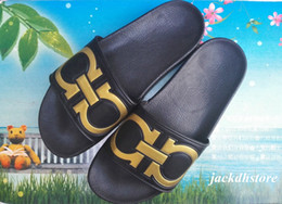 Wholesale Cheap Medium Heels - Wholesale 2017 PU Mens Slide Sandals Fashion Geometric Slippers for Men Outlet For Cheap at Last 50 Pairs
